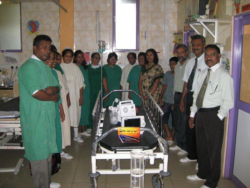 DONATION OF MEDICAL EQUIPMENT TO KARAPITIYA HOSPITAL'S CHILDREN'S ICU WARD