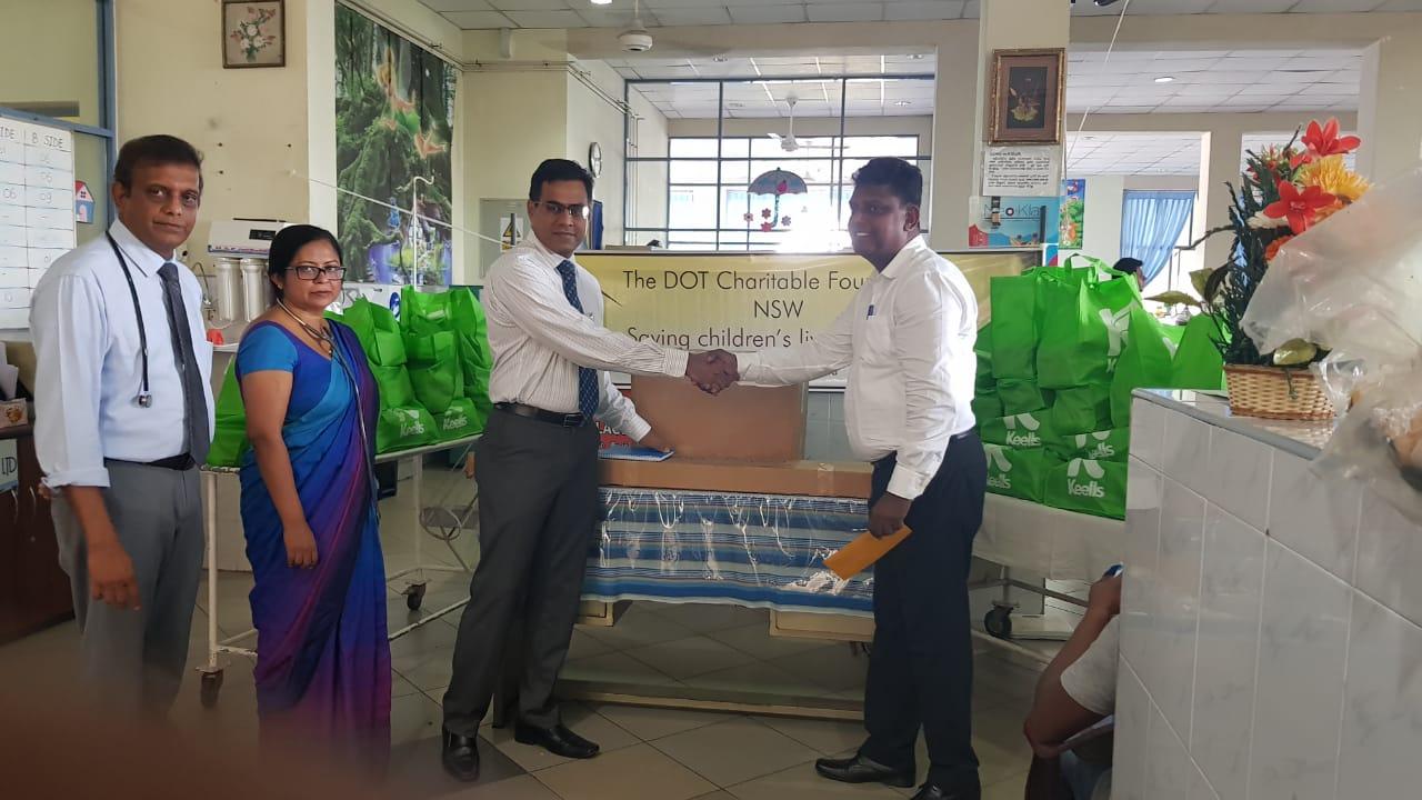 DONATION OF HIGH FLOW OXYGEN MACHINE TO THE PAEDIATRIC WARD OF TEACHING HOSPITAL KULIYAPITIYA