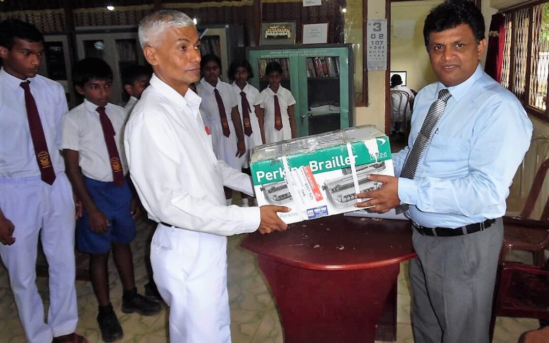 Braille Writer for Sandagala School, Kurunegala