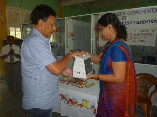 DONATION TO DENIYAYA BASE HOSPITAL