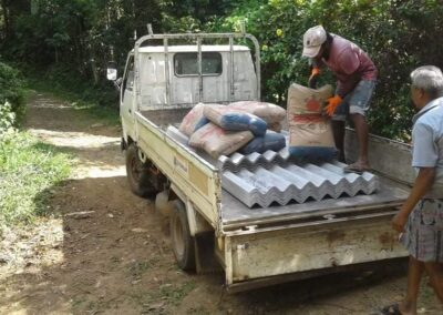 Housing project Matale - transporting goods