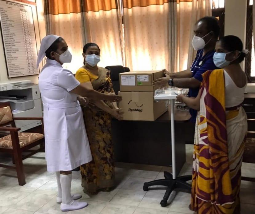 COVID 19 Project 2: Karapitiya Teaching Hospital-Resmed Stellar 100 V1.5 BIPAP machine